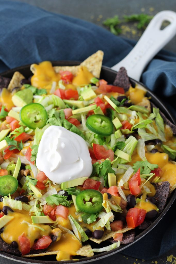 Quick and Easy Vegan Nacho Cheese Sauce Skillet